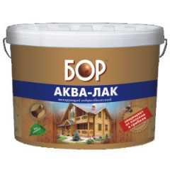 КВАДРОСТРОЙ / Аква-лак БОР лессирующий водоразбавляемый махагон 2,3кг Воронеж