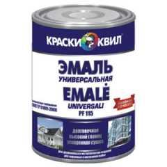 КВАДРОСТРОЙ / Эмаль КВИЛ ПФ-115 универсальная черный 0,9кг Воронеж