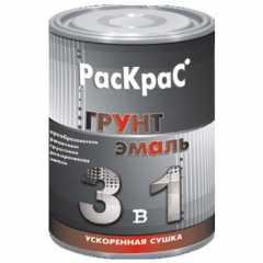 КВАДРОСТРОЙ / Грунт-эмаль РасКрас шоколадный 0,9кг Воронеж