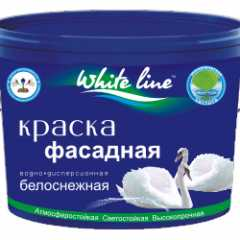 КВАДРОСТРОЙ / Краска White Line фасадная супербелая 25кг Воронеж