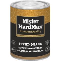Грунт-эмаль 3в1 «Алмазная крошка» Mister HardMax/ серебристый 1кг. Магазин краски Квадрострой