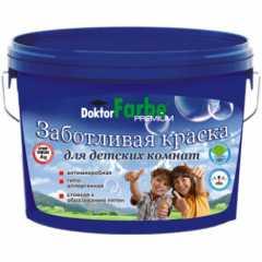 КВАДРОСТРОЙ / Краска Doktor Farbe для детских комнат гипоаллергенная, антимикробная, износостойкая Белоснежный / база А 5,8кг Воронеж