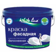 КВАДРОСТРОЙ / Краска White Line фасадная белоснежный / Base А 7кг Воронеж